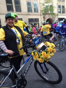 TD Five Boro Bike Tour Team #SomeNerve Flowers -PattyChangAnker.com