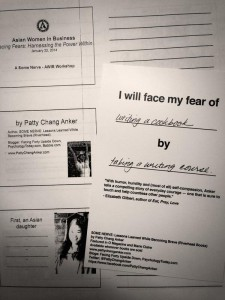 I Will Face My Fear of Writing a Cookbook -PattyChangAnker.com