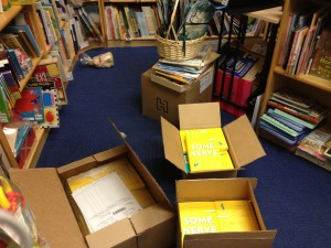 Books arrive at Galapagos Bookstore
