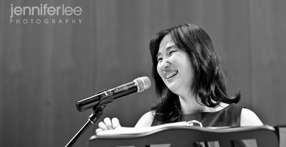 Patty Chang Anker at Podium by Jennifer Lee Photography