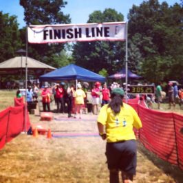 Sleepy Hollow Sprint Triathlon 2016 – Team #SomeNerve battles crazy currents, hot temps. And a couch to 5K athlete is born!