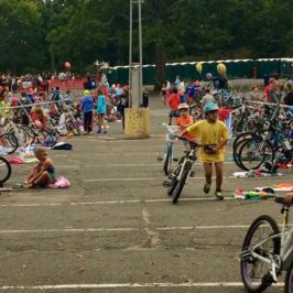 And she's off…R's First Kids Triathlon!