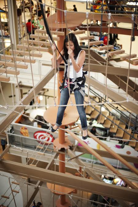 Afraid Of Heights How About Trying An Indoor Ropes Course